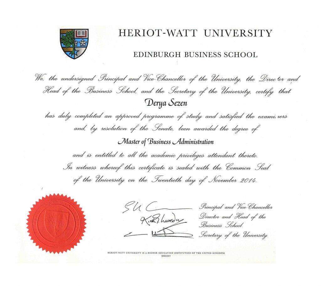 Heriot-Watt MBA