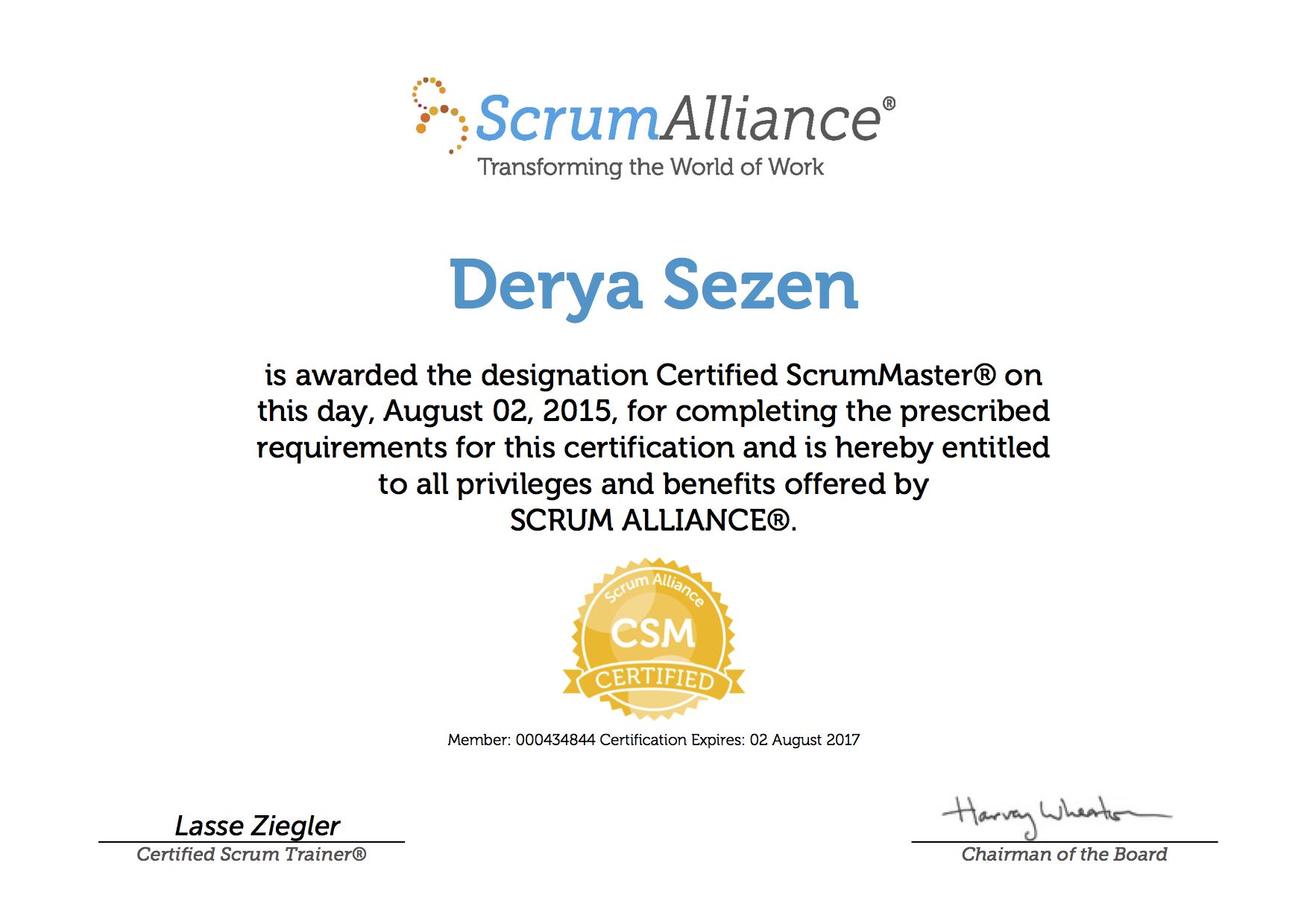 Certificates derya sezen derya sezen scrumalliancecsmcertificate 1betcityfo Images